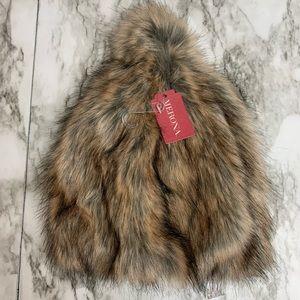 NWT Merona Pom Pom Fur Hat